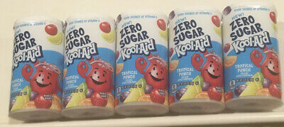 5 Tubs Kool-Aid Zero Sugar Tropical Punch Powdered Drink Mix Expired 03/03/2020 • 16.19£