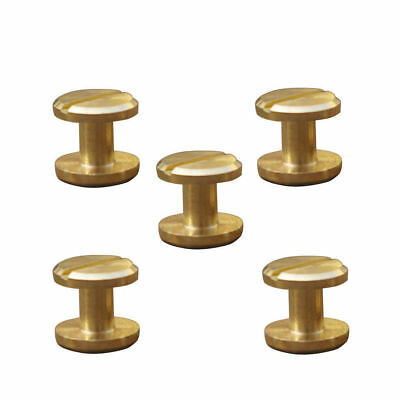 £2.88 • Buy 5/10 Belt Screw Leather Chicago Nail Brass Solid Rivets Stud Head Wallet Useful