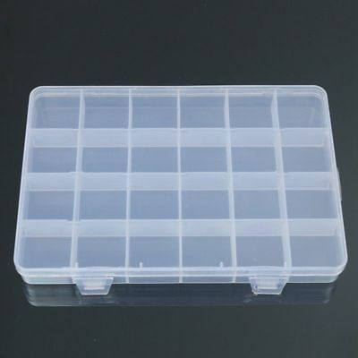 £2.44 • Buy 24 Compartments Plastic Box Case Jewelry Bead Storage Container Craft Organizer