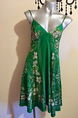 AU10 • Buy El Bershka Hippie Green Dress Size 10