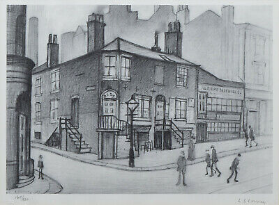 Large Framed LS Lowry Print – Great Ancoats Street (Picture Painting English Art • 24.95£