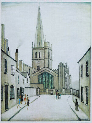 Large Framed LS Lowry Print – Burford Church (Picture Painting English Artist) • 24.95£