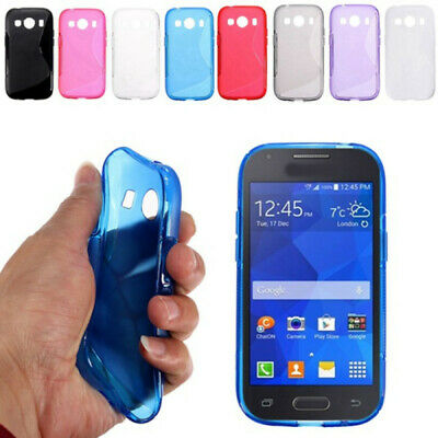 £2.49 • Buy S-Line Silicon Gel Shockproof Case For Samsung Galaxy Ace, Ace 2, Ace 3, Ace 4