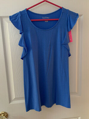 $18.50 • Buy NWT Lilly Pulitzer Lanette Top Blue Size M