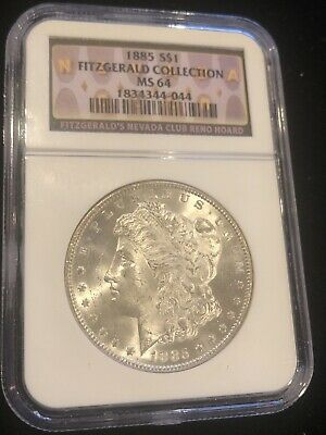 $109.99 • Buy 1885 Morgan Silver Dollar MS64 NGC (Fitzgerald Collection)! Nice White Coin!