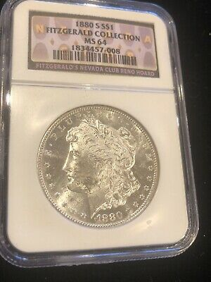 $109.99 • Buy 1880-S Morgan Silver Dollar MS64 NGC (Fitzgerald Collection)! Nice White Coin!