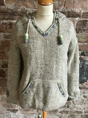 Pachamama 100% Pure Wool South American Style Sweater With Hood. FREE UK POSTAGE • 30£