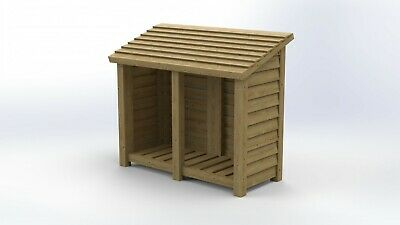 4FT Tall Double Bay Log Store Plans / Instructions • 3.99£