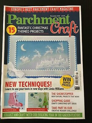 Parchment Craft Nov 2016 VGC Scrapbooking, Crafts, Cards • 2.50£