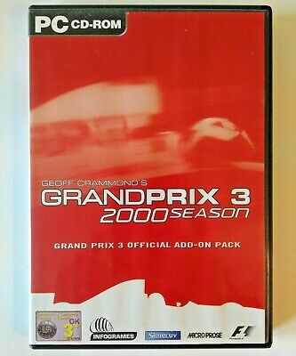 Grand Prix 3 - 2000 Season Expansion Pack - PC CD-ROM - Geoff Crammond - F1 Game • 5.49£