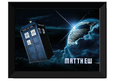 Dr Who Framed Poster - Personalised With Name - Available In A3 & A2 • 24£