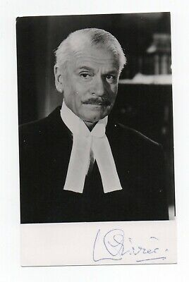 Sir Laurence Olivier 1907-89 Renowned English Actor. Genuine Signed Photo • 25£