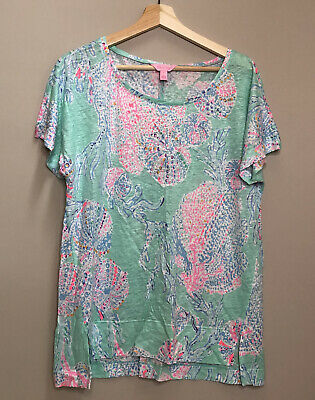 $42.95 • Buy Lilly Pulitzer Mikela Top Minty Fresh Fansea Size Large Nwt