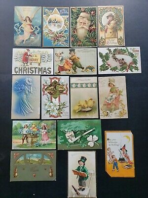 $ CDN54.33 • Buy 16 Vintage 1900s Holiday St Patrick's Day Easter Halloween Christmas Postcards
