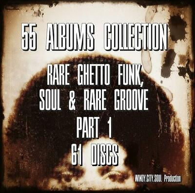 60's 70's GHETTO FUNK SOUL RARE GROOVE 55 ALBUMS COLLECTION 61 DISCS PT1# • 8.99£