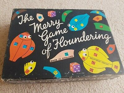 Vintage The Merry Game Of Floundering Boxed & Complete By Spear's Games (1950s) • 2£