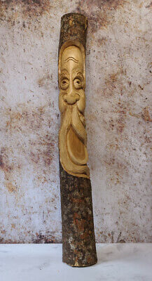 £44.99 • Buy Hand Carved Green Man Tree Trunk Wood Man Ornament Forest Mystic ENT LOTR 100cm