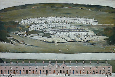 LS Lowry Framed Print – Hillside In Wales (Picture Painting English Artist Art) • 7.95£
