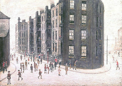 LS Lowry Framed Print – Dwelling Ordsall Lane Salford (Picture Painting Artwork) • 7.95£