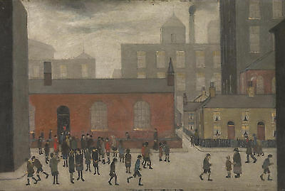 LS Lowry Framed Print – Coming Out Of School (Picture Painting English Artist) • 7.95£