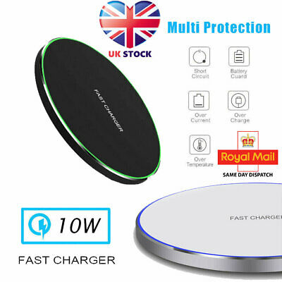 QI Wireless Charger Fast Charging Pad For Apple IPhone 11 Pro X XR XS Max 8 Plus • 5.99£
