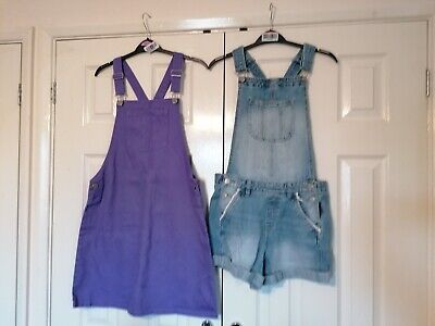 2 Pairs Of Girls Age 13-14 Years Dungarees • 8.25£