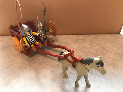 Playmobil Two Knights With Horse And Cart And Weapons • 5£