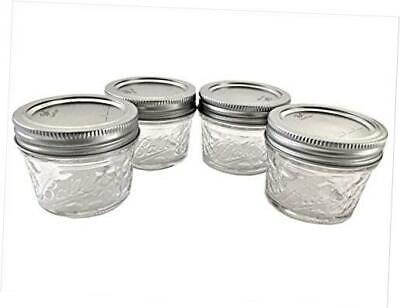 $15.19 • Buy Mason Ball Jelly Jars-4 Oz. Each - Quilted Crystal Style-Set Of 4