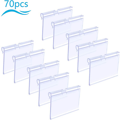 £14.12 • Buy Matogle 70pcs Clear Plastic Label Holders Sign Display Holder For Retail Price