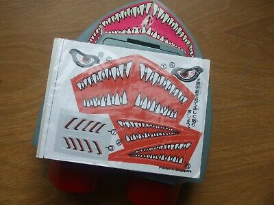 New Replacement Stickers Decals For Tomytronic3d Shark Attack Vintage 1983 Game  • 8.99£