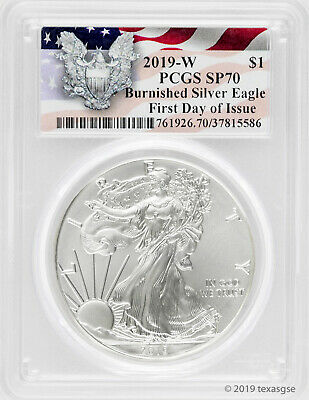 $65.10 • Buy 2019-W $1 Silver Eagle SP70 - First Day Of Issue - Eagle Label