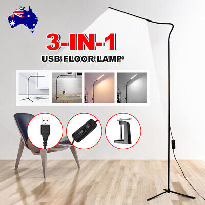 AU40.95 • Buy Modern LED Floor Lamp Stand Reading Light Table Desk Lamp Dimmable Adjustable