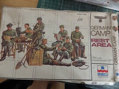 1/35 ESCI Vintage German Figure At Rest / Camp Set - See Photos WW2 Classic Kit  • 10£