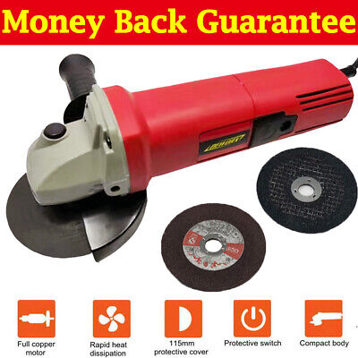 850W Electric Angle Grinder 115mm Cutter Sander Polisher For Wood Metal DEWORX • 15.90£