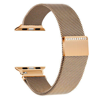 $ CDN1.68 • Buy 44mm IWatch Watch Bands For Apple Watch Series 1/2/3/4 Milanese Sparkle Bracelet