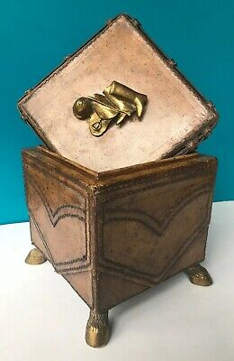 $275 • Buy Maitland Smith Leather Box Equestrian Horse Theme