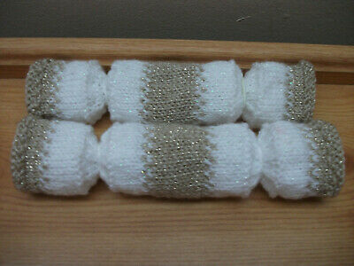 2 Gold Hand Knitted Re Fillable Crackers. Great For A Wedding/Christmas • 2.30£