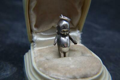 Lovely Antique Edwardian Silver Kewpie Fums Up Lucky Charm/Pendant Reg Number • 88£