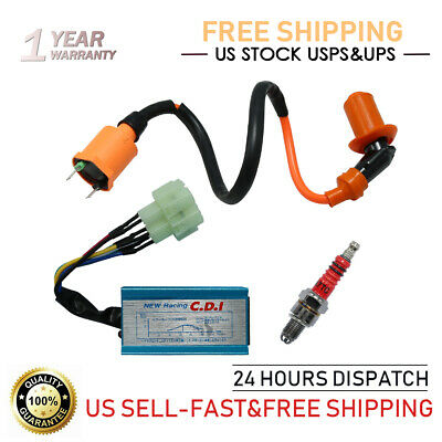 $12.69 • Buy Racing Ignition Coil+CDI Kit For GY6 50cc 125cc 150cc Scooter ATV Go Kart Moped