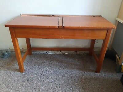 Vintage School Desk Double With JB Brand  • 10£