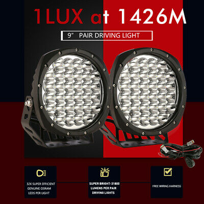 AU102.98 • Buy 9 Inch Spot LED Driving Light Round Spotlights Pair OSRAM Work Light Bar Offroad