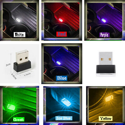 $ CDN2.35 • Buy 1× Mini USB Interior LED Colorful Atmosphere Lights Night Lamp Car Accessories