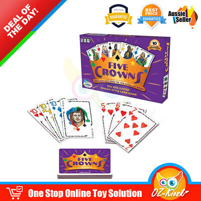 AU15.50 • Buy OZ Five Crowns Card Game 5 Suites Classic Original Family Party Rummy Style Play