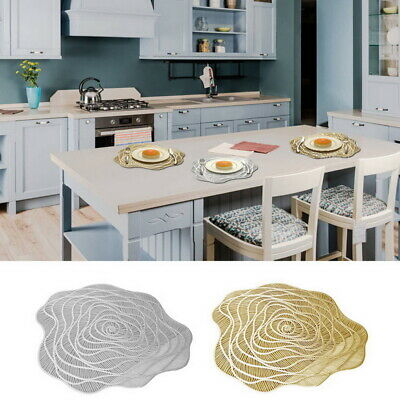 AU6.99 • Buy 1pcs PVC Hollow Place Mats And Coasters Dining Table Placemats Non-Slip Washable