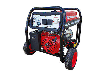 AU1090 • Buy Portable Petrol Generator 6.5kVA 240V In Open Frame With Wheels Kit