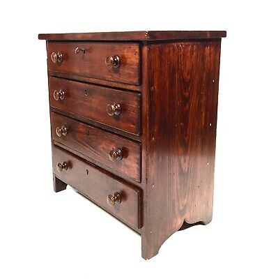 Antique Wooden Pine Tabletop Chest Of Collectors Drawers / Cabinet / Storage  • 149£