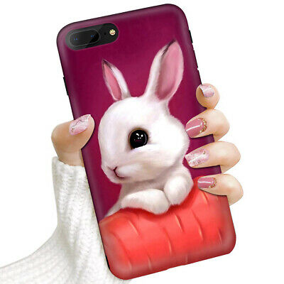 AU9.99 • Buy (For IPhone 8 Plus, IPhone 7 Plus) Soft IMD Case Cover 0080 Cute Bunny Rabbit