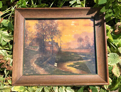 $ CDN101.49 • Buy Antique 1800s Charcoal Landscape Drawing Painting Framed DEVOE & RAYNOLDS CO