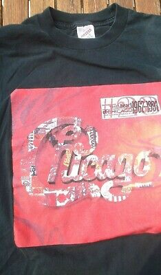 $ CDN13.52 • Buy Vintage CHICAGO Band T-Shirt XL  30th Anniversary Music 1997 Black