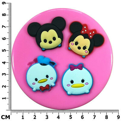 Tsum Tsum Mickey, Minnie Mouse, Donald, Daisy Silicone Mould By Fairie Blessings • 6.95£